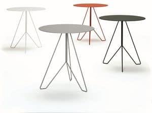Marocchino, Feuerfester Tisch mit runder Platte, geeignet für Bar und im Freien