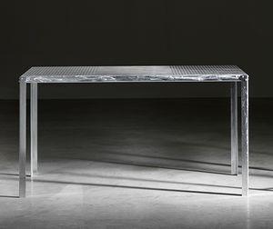 TA52, Rechteckiger Tisch aus verzinktem Stahl