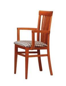 315 P, Sessel mit vertikalen Lamellen zurück, für Taverne