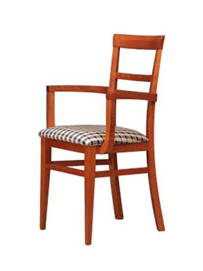 314 P, Holzstuhl, gepolsterter Sitz, für Hotels