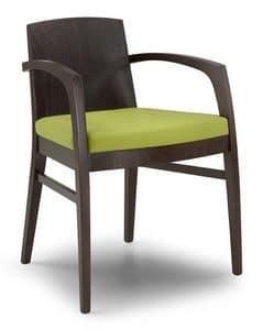Ketty L, Moderne Sessel mit Massivholz zurück, für den Objektbereich