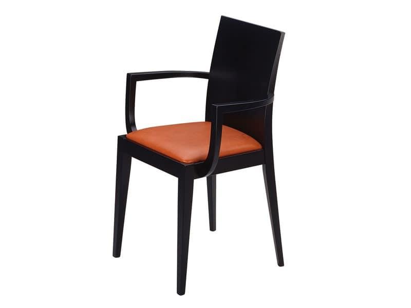 Masha/P, Sessel mit gepolstertem Sitz, für Bars und Restaurants