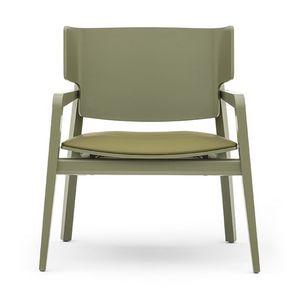 Offset 02842, Sessel aus Massivholz, gepolsterter Sitz, moderner Stil