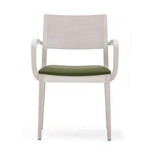 Sintesi 01521, Sessel aus Massivholz, gepolsterter Sitz, moderner Stil