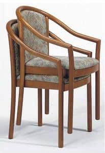 176, Stuhl mit Armlehnen, in Buche, stapelbar, für Restaurant