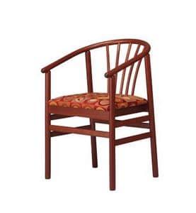 401, Stuhl mit Armlehnen Buche, mit gepolstertem Sitz