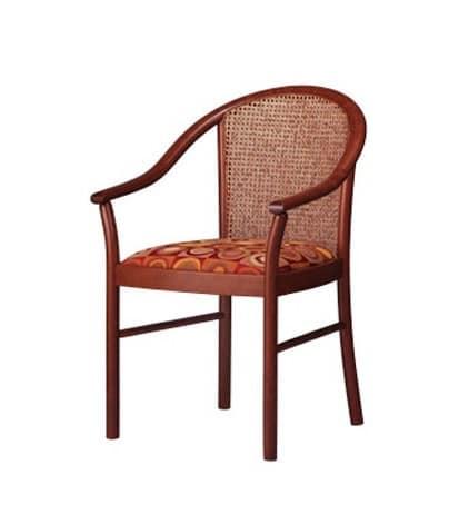 408 C, Stuhl mit gepolsterten Armlehnen, klassische Vertrag stile