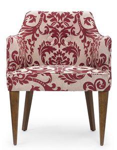 Lady classic, Klassischer Sessel aus Blumenstoff