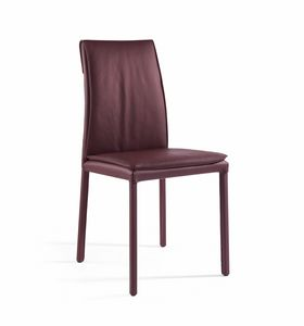 Agorà, Stuhl mit gepolstertem Kissen, kundengerechtes Finish