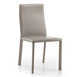 Ara, Stuhl komplett mit geklebtem Leder bezogen