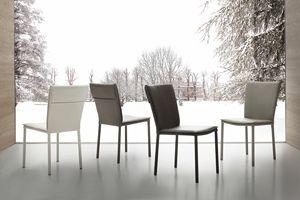 Art. 234 Vogue, Gepolsterter Stuhl für Esszimmer, mit Kunstleder bezogen