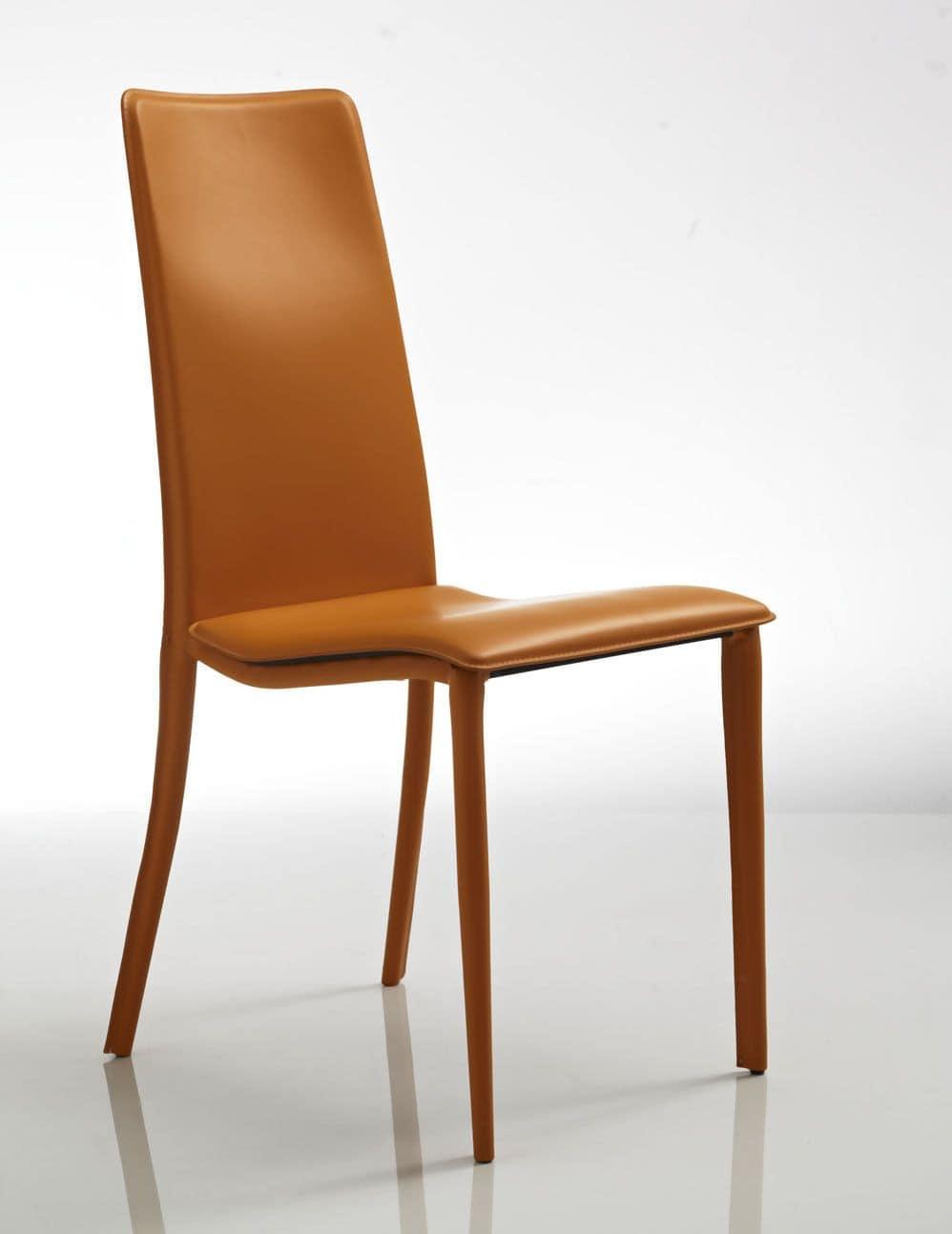 Bequemen Stuhl in orange Leder, zum Restaurant und Hotel ...