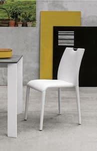 FRIBURGO SE611, Chair komplett in Soft-Touch-abgedeckt, moderner Stil