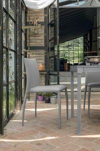 LILY SE610, Stuhl mit Lederbezug ideal für Küche und Bar