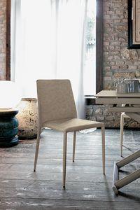 NIZZA SE603, Moderne Sessel in Leder für Küchen und Bars Polster