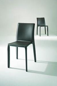 Parma, Lederbezogenen Stuhl für Restaurants und Kantinen