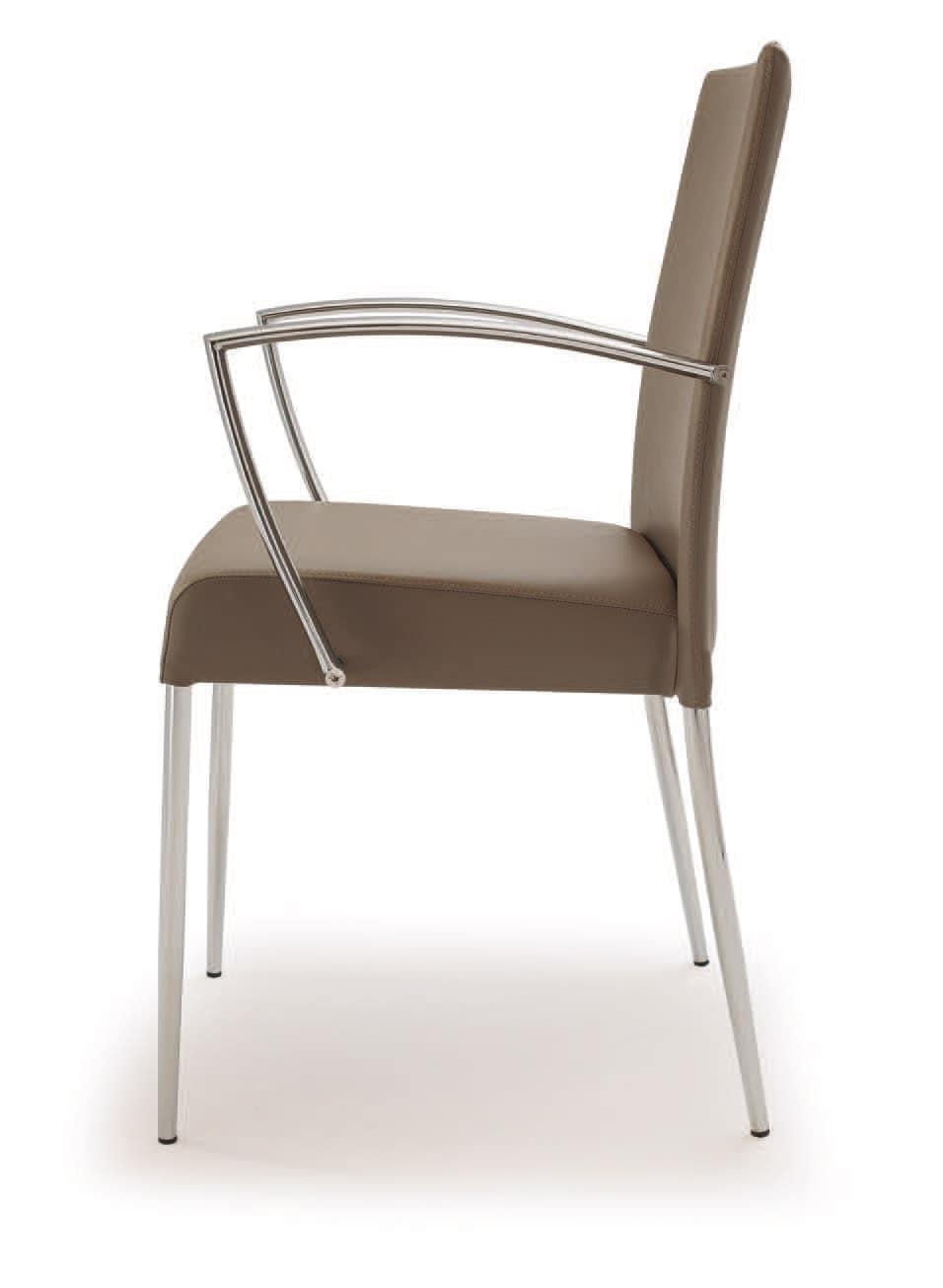 PL 621, Stahlstuhl, gepolstert in Kunstleder, für den Objektbereich
