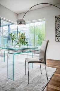 PLAZA, Moderne Stuhl aus Metall und Holz für Esszimmer