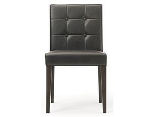 Rina-S, Lederstuhl, mit Rückenlehne mit Knöpfen erhältlich