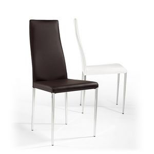 Rio, Lederstuhl, konischen Beinen, für Bars und Restaurants