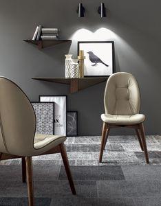 SORRENTO, Stuhl mit Armlehnen, mit Lederpolsterung