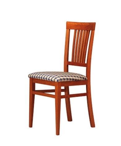 316, Gepolsterter Stuhl mit Rückenlehne aus Holz, für Bars und Hotels