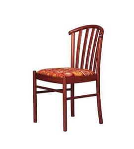 407 S, Stuhl für den Objektbereich, mit vertikalen Lamellen Rückenlehne