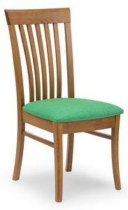 Anna, Stuhl mit vertikalen Lamellen Rückenlehne
