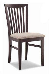 Anna, Holzstuhl, mit gepolstertem Sitz