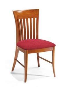 Manola, Stuhl aus Buche, mit vertikalen Lamellen, für Eiscafes