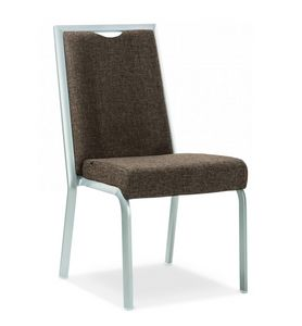 Simbia, Stapelbarer gepolsterter Stuhl für Bankette und Restaurants
