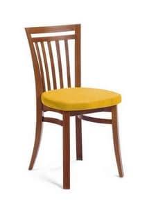 Sofia, Buche Stuhl mit gepolstertem Sitz, für Wohnräume
