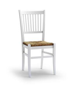 TIFFANY, Stuhl mit Strohsitz und senkrechten Design Rückenlehne