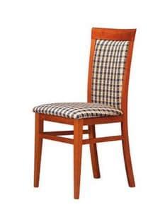 312, Gepolsterter Stuhl aus Holz, einfach und stark, für Bars