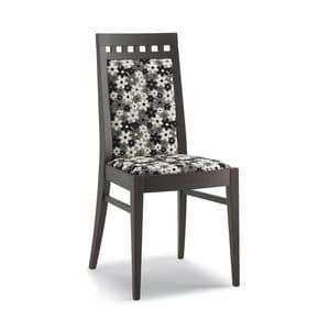 Art. 105, Chair in Holz, hohe Rückenlehne, für Wohnzimmer