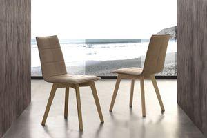 Art. 132 Italy, Stuhl mit Peachskin Stoff gepolstert, für Esszimmer