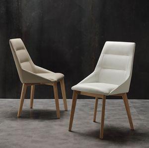 Art. 246 Europa, Eleganter Stuhl aus Öko-Leder, für Esszimmer