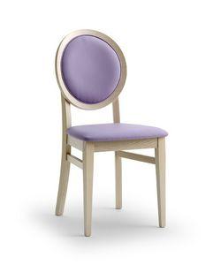 BELLAMIE.2, Stuhl mit gepolsterter Medaillon-Rückenlehne