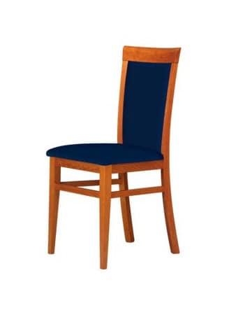 C07, Stuhl mit Gestell aus Buche, Sitz und Rücken gepolstert