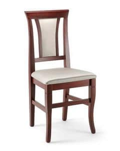 Cleo, Esszimmerstuhl aus Buchenholz, gepolstert, elegant