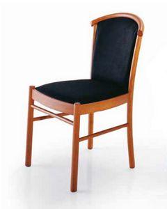 Dolly, Stuhl aus Holz, gepolstert, für den Objektbereich