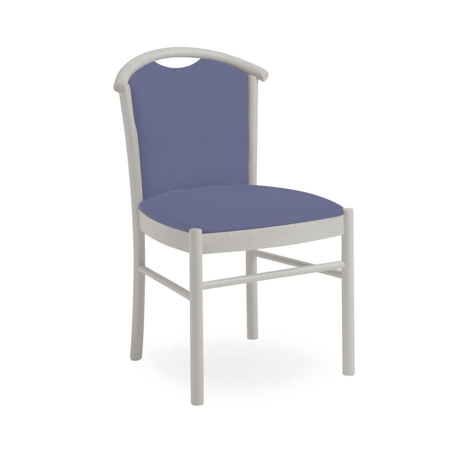 Dolly L1060 M, Gepolsterter Stuhl aus Holz, mit Griff, für Restaurant