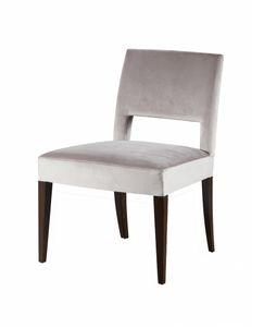 Downtown Stuhl, Gepolsterter Stuhl aus massiver Buche