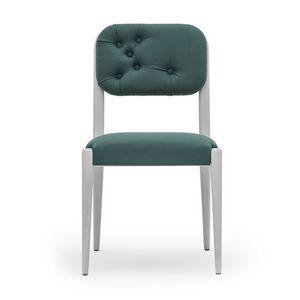 Garbo 03111K, Moderner Stuhl aus Massivholz mit Rückenlehne