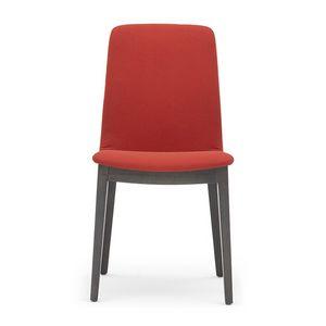 Light 03211, Gepolsterter Stuhl aus Holz mit Griff, für Restaurants