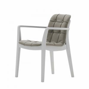Light 03221K, Stuhl mit Armlehnen mit Griff, gepolstert, gesteppt