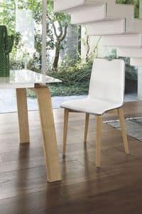 LOSANNA SE05, Stuhl mit Massivholzrahmen, gepolsterter Sitz und Rücken, für den modernen Stil