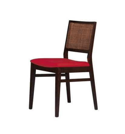 M03, Moderne Sessel mit Buchen Basis, Zuckerrohr zurück