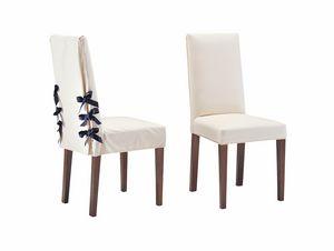 Marina, Stuhl für elegantes Esszimmer mit Kronenschnürsenkel
