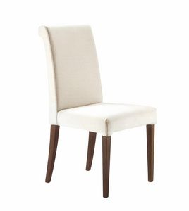 Monica, Stuhl für Hotel und Restaurant mit abnehmbarem Polster
